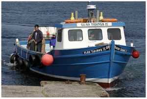 Glad Tidings motor vessel at Farne islands