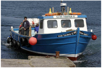 Glad Tidings motor vessel at Farne islands