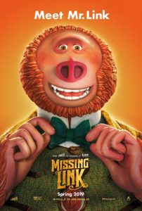 Missing Link (PG) (95 mins) @ The Hub, Seahouses Sports & Community Centre